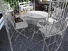 Metal Laced Work Garden Table with Four