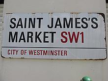 Original Antique Large Vintage St James Market