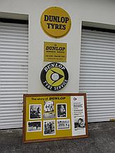 Four Vintage Dunlop Advertisements One Circular 20