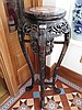 Antique Chinese Carved Hardwood Plant Stand with