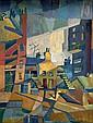 John McHugh (1918-1995) Untitled (Cubist Cityscape)