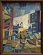 John McHugh (1918-1995)- Untitled (Cubist Cityscape)