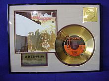Led Zeppelin 24 kt gold plated