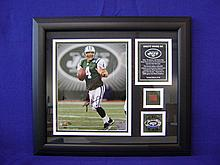 Brett Favre autograph with piece of game ball