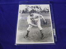 Autographed photographed by Bob Feller
