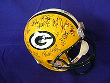 Green Bay Packers Team signed helmet