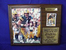 Autographed Brett Favre photograph