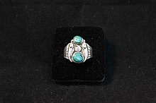 Sterling silver and turquoise men's ring