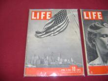 Lot of 3 Issues of Life Magazine