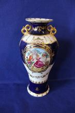 Limoge Porcelain Urn With French Motif