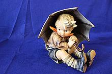 #152 A Umbrella Boy Large Hummel Figurine