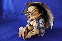 #152 B Umbrella Girl Large Hummel Figurine