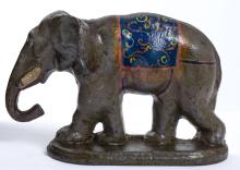 Early Cast Iron Circus Elephant Doorstop