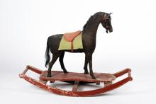 (19th/20th c.) Toy Rocking Horse