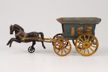 Hubley Cast Iron Horse Drawn Ice Wagon