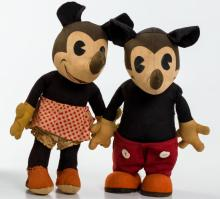 Knickerbocker Mickey and Minnie Mouse Dolls