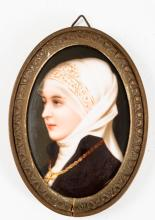 F.A. Kaulbach Portrait Miniature on Porcelain