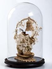 Victorian Wax, Wire and Silk Wedding Centerpiece