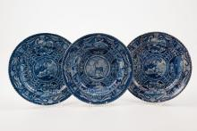 Transfer Decorated T Hall Quadrupeds Plates & Bowl