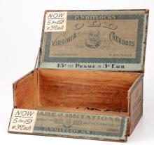 Old Virginia Cheroots Cigar Store Display Box