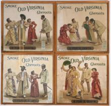 Black Americana Cake Walk Old Virginia Cheroots Ad