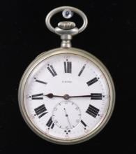 Large Swiss Railroad Standard Pocket Watch