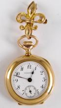 Tiffany Co. 18k Gold Pocket Watch on Pin