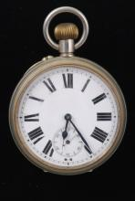 Unmarked Bunn Special Nickel Pocket Watch