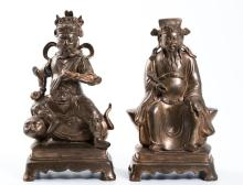 Pair of (19th c.) Chinese Cast Bronze Figures