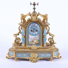 19th c French Sevres Style Mantle Clock