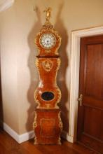 19th c Louis XV Style Bombe Tall Case Clock