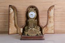 19th c French Gilt Bronze Travel Clock