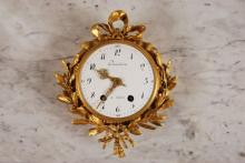 Fine Louis XVI Style Gilt Bronze Cartel Clock
