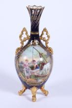 19th c Fine French Porcelain Vase