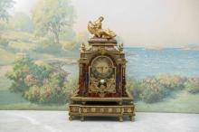 Important Louis XV Ormolu Mantle Clock