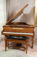French Haddorff Paint Decorated Grand Piano