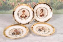 Four Portrait Plates Royal Copenhagen