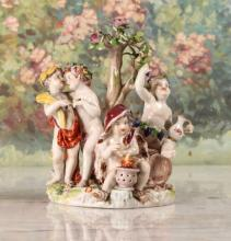 Continental Porcelain Figural Grouping