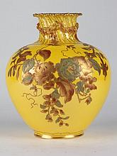 Royal Crown Derby Enameled Vase