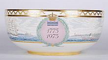 Royal Copenhagan Bicentennial Porcelain Punch Bowl