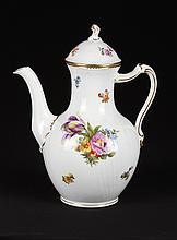 Royal Copenhagen Denmark Hand Painted Tea Pot