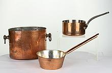 (3) Pieces of Copper Cookware