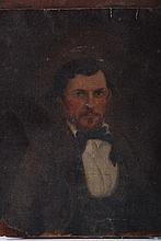 (19th c.) American Folk Art Portrait Painting