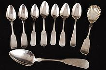 (9) American Coin Silver Spoons