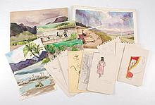 WWII Hawaiian Watercolors Etc.