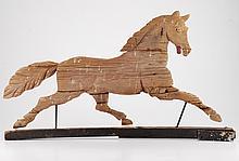 (19th c.) Folk Art Running Horse Weathervane