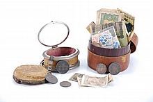 Collection of World Stamps, Coins and Paper Money