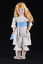 Unmarked German Bisque Head Doll