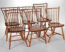 Assembled Set of (6) Bamboo Turned Windsor Chairs