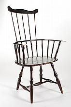 (18th/19th c.) Comback Windsor in Brown Paint